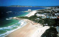 aerial view of Plettenberg Bay
